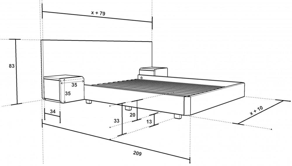Rozměry postele Mutombo