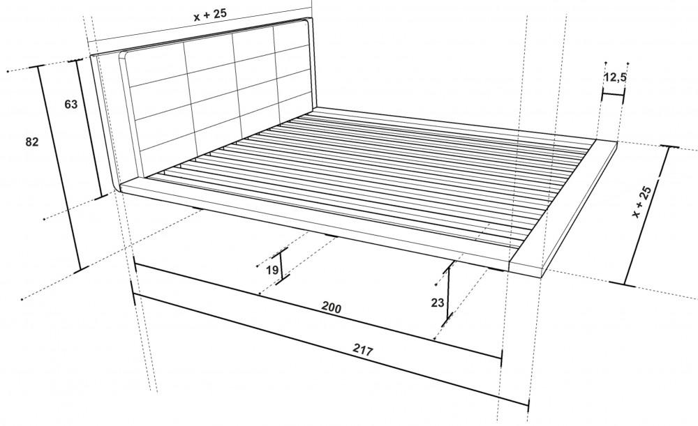 Rozměry postele Kuzma
